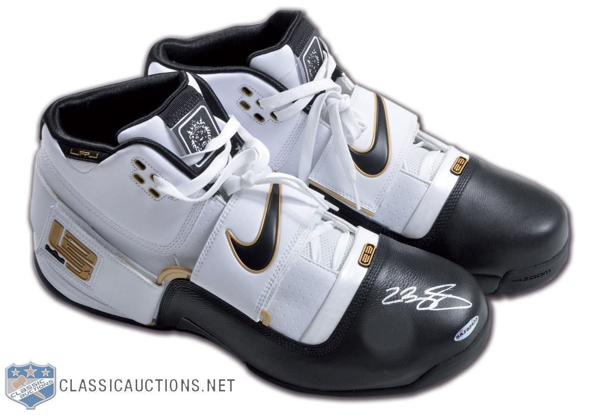 b7cdc1a62f2 Lot Detail - LeBron James Pair of Nike LBJ 23 Shoes