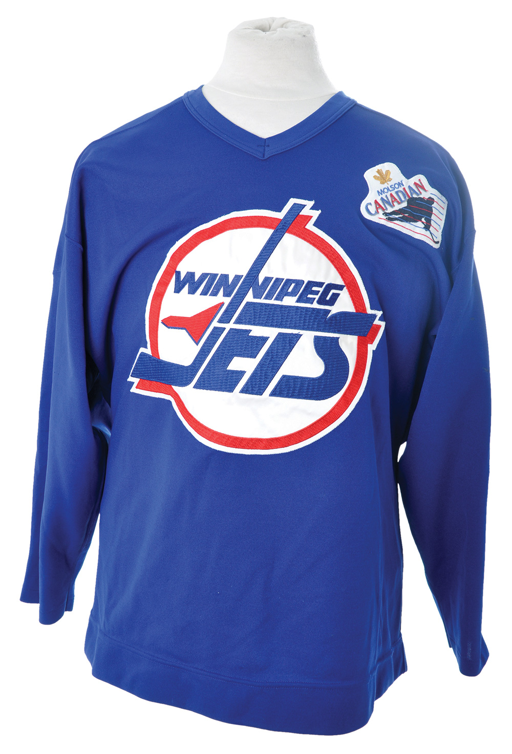 online store 41db1 3b37a Lot Detail - Winnipeg Jets 1990s Practice Jersey Collection of 2
