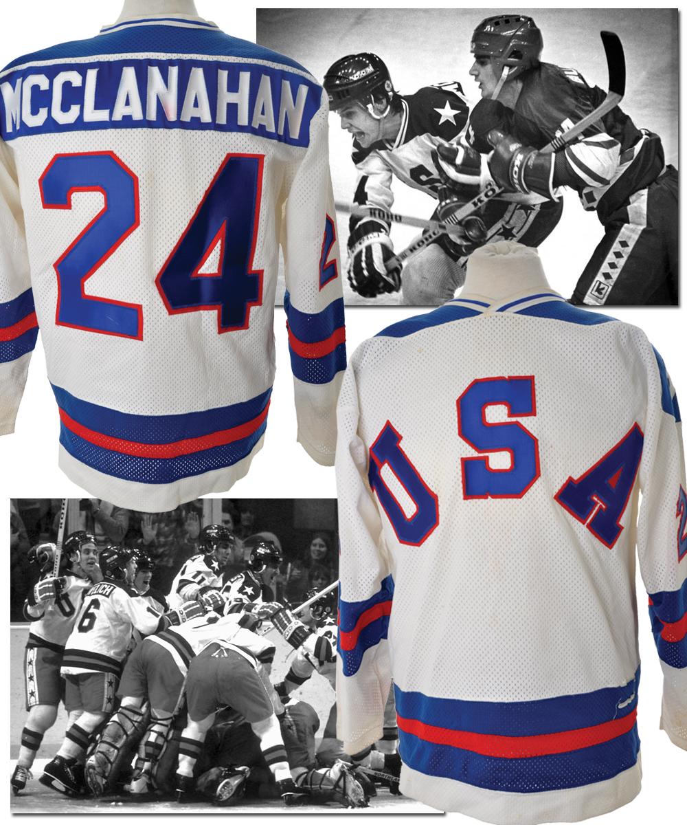Lot Detail - Rob McClanahan s 1980 Olympics Game-Worn Team USA ... 5e1e2f569