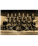 "Montreal Canadiens 1945-46 Stanley Cup Champions Rice Studios Team Photo (11 ¼"" X 17"")"