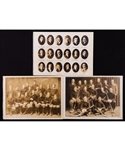 "Hobey Baker Princeton College 1913 Football and 1914 Hockey Team Photos (9"" x 12"")"