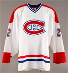 Dave Mansons (1998-99) / Beaulieus (2000s Pre-Season) Montreal Canadiens Game-Worn Jersey with Team LOA - Team Repairs!