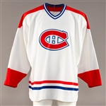 Ron Tugnutts (1994-95) / Rollie Melansons (1990s Oldtimers) Montreal Canadiens Game-Worn Jersey with Team LOA