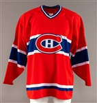 Oleg Petrovs Mid-1990s Montreal Canadiens Game-Worn Jersey Obtained from Team with LOA