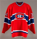 Peter Popovics Mid-1990s Montreal Canadiens Game-Worn Rookie Era Jersey with Team LOA - Team Repairs!