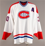 Turner Stevensons 1996-97 Montreal Canadiens Game-Worn Alternate Captains Jersey Obtained from Team with LOA - Team Repairs!
