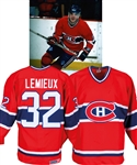 Claude Lemieuxs 1986-87 Montreal Canadiens Game-Worn Jersey Obtained from Team with LOA