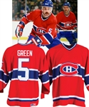 Rick Greens Late-1980s Montreal Canadiens Game-Worn Jersey Obtained from Team with LOA - Team Repairs!