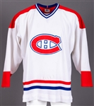 Montreal Canadiens Early-1980s Game-Worn Pre-Season Jersey Attributed to Alain Heroux Obtained from Team with LOA - Team Repairs!
