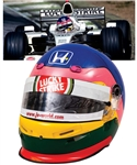 Jacques Villeneuves 2001 Lucky Strike BAR Honda F1 Team Bell Race-Worn Helmet with His Signed LOA – Italian Grand Prix!