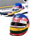 Jacques Villeneuve's 2002 Lucky Strike BAR Honda F1 Team Bell Race-Worn Helmet with His Signed LOA – Brazilian Grand Prix! – Photo-Matched!