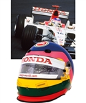 Jacques Villeneuve's 2003 Lucky Strike BAR Honda F1 Team Bell Race-Worn Helmet with His Signed LOA – Spanish Grand Prix