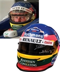 Jacques Villeneuve's 1997 Rothmans Williams Renault F1 Team Bell Test Helmet with His Signed LOA – From Championship Season!
