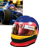 Jacques Villeneuve's 1998/1999 British American Racing (BAR) F1 Team Bell Race Helmet with His Signed LOA