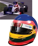 Jacques Villeneuve's 1999 British American Racing (BAR) F1 Team Bell Race-Worn Helmet with His Signed LOA