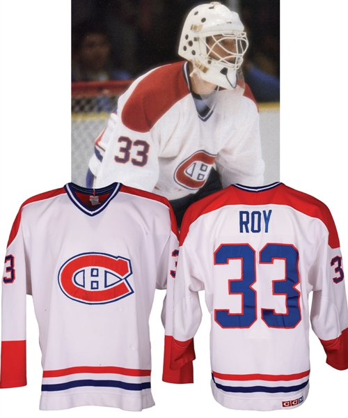 separation shoes 9d181 766a2 Lot Detail - Patrick Roy's 1985-86 Montreal Canadiens Game ...