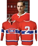 Jacques Laperrieres Late-1960s Montreal Canadiens Game-Worn Wool Jersey with LOA