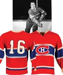 Henri Richards 1959 Montreal Canadiens Game-Worn Wool Jersey with LOA - 25+ Team Repairs! - Worn in 1958-59 Stanley Cup Playoffs/Finals and 1959-60 Regular Season! - Photo-Matched!