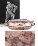 Henri Richards 1960-61 Montreal Canadiens NHL League Championship Covered Entree Dish from His Personal Collection with LOA