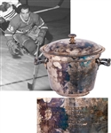 "Henri Richards 1961-62 Montreal Canadiens NHL Championship Ice Bucket Award from His Personal Collection with LOA (8"")"