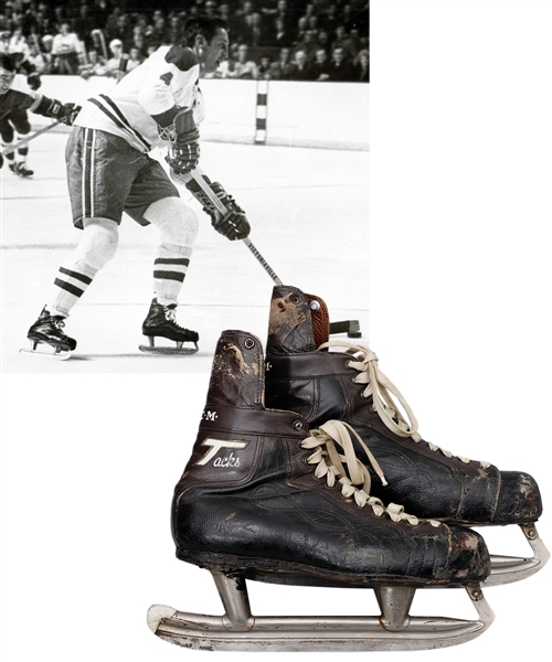 Jean Beliveaus 1970-71 Montreal Canadiens CCM Tacks Game-Used 500th Goal Skates from His Personal Collection with His Signed LOA - Photo-Matched!