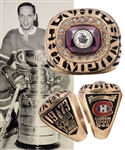 Jacques Laperrieres 1972-73 Montreal Canadiens Stanley Cup Championship 10K Gold and Diamond Ring with His Signed LOA