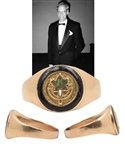 Jacques Laperrieres Hockey Hall of Fame Induction 14K Gold Ring with His Signed LOA