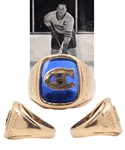 Jacques Laperrieres 1959-60 Junior Canadiens Gold Team Ring with His Signed LOA