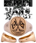 "Scarce 1972 Canada-Russia Series ""Player of the Game"" 14K Gold Ring Presented to Alan Eagleson from His Personal Collection with His Signed LOA"