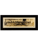 "Montreal Canadiens 1928-29 Framed Panoramic Team Photo Featuring Morenz, Joliat and Hainsworth (9 ½"" x 23 ½"")"