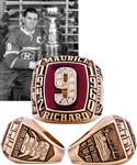 Spectacular Maurice Richard 10K Gold and Diamond Career Tribute Ring with Family LOA