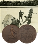 "Julius ""Pete"" Leichnitzs 1948 St. Moritz Winter Olympics Participation Medal in Original Presentation Box with LOA"