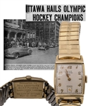 "Julius ""Pete"" Leichnitzs 1948 RCAF Flyers Olympic Hockey Champions ""Elgin DeLuxe"" Watch Presented by the City of Ottawa with LOA"