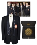 "Julius ""Pete"" Leichnitzs 2008 Canada Olympic Hall of Fame Induction Blazer and IIHF 60th Anniversary Medal in Presentation Box with LOA"