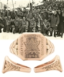 "Julius ""Pete"" Leichnitzs 1948 Winter Olympics RCAF Flyers Olympic Champions 10K Gold Ring with LOA"