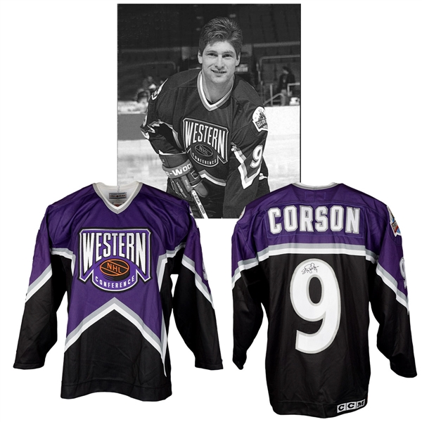 Shayne Corsons 1994 NHL All-Star Game Western Conference Signed Game-Worn Jersey with NHLPA LOA