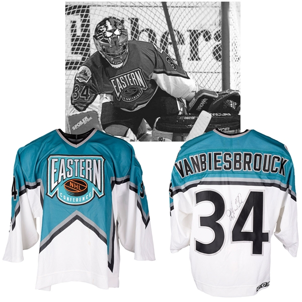 John Vanbiesbroucks 1994 NHL All-Star Game Eastern Conference Signed Game-Worn Jersey with NHLPA LOA