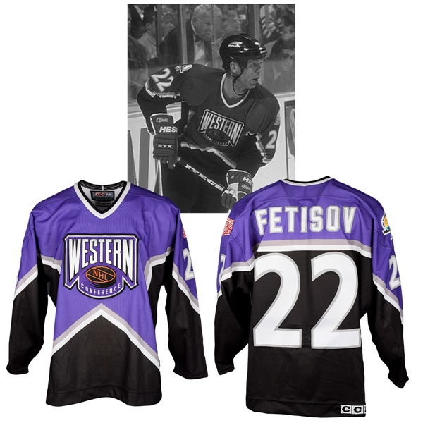 Viacheslav Fetisovs 1997 NHL All-Star Game Western Conference Signed Game-Worn Jersey with NHLPA LOA