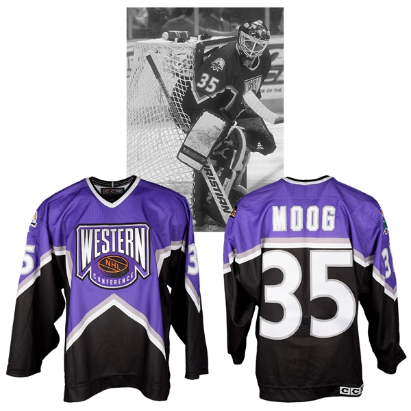 Andy Moogs 1997 NHL All-Star Game Western Conference Signed Game-Worn Jersey with NHLPA LOA