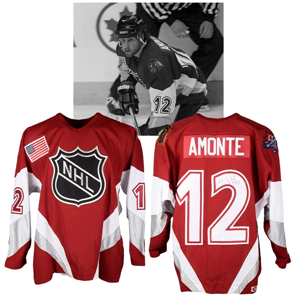Tony Amontes 1998 NHL All-Star Game North America All-Stars Signed Game-Worn Jersey with NHLPA LOA
