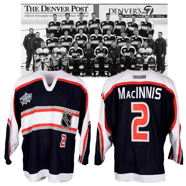 Al MacInnis 2001 NHL All-Star Game North America Team Game-Issued Jersey with NHLPA LOA