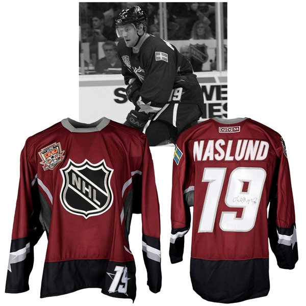 Markus Naslunds 2002 NHL All-Star Game World Team Signed Game-Worn Jersey with NHLPA LOA
