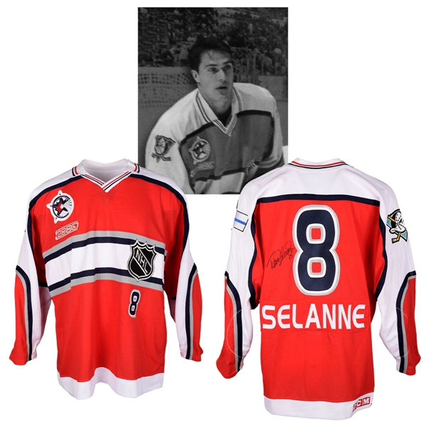 Teemu Selannes 2000 NHL All-Star Game World All-Stars Signed Game-Worn Jersey with NHLPA LOA