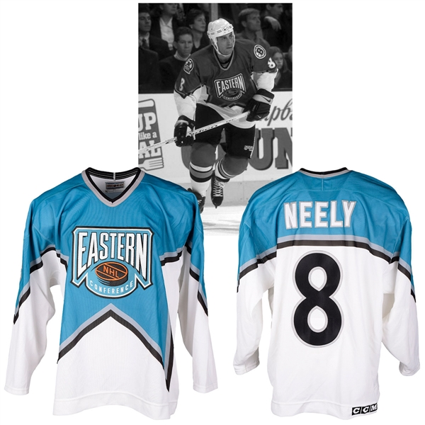 Cam Neelys 1996 NHL All-Star Game Eastern Conference Signed Game-Worn Jersey with NHLPA LOA