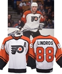 Eric Lindros 1993-94 Philadelphia Flyers Game-Worn Alternate Captains Jersey with His Signed LOA - 44-Goal Season!
