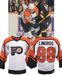 Eric Lindros 1992-93 Philadelphia Flyers Game-Worn Rookie Season Jersey with His Signed LOA - Centennial Patch! - 41-Goal Season!