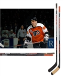 Eric Lindros 1992-93 Philadelphia Flyers Game-Used Rookie Season Titan Sticks (2) with His Signed LOA