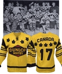 George Gosselins 1958 World Championships Whitby Dunlops Team Canada Game-Worn Wool Jersey - World Champions!