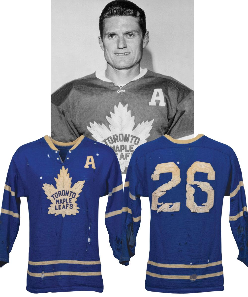 c0879d594e4 Lot Detail - Allan Stanley's 1960-61 Toronto Maple Leafs Game-Worn ...