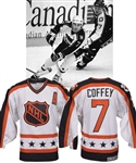 Paul Coffeys 1990 NHL All-Star Game Wales Conference Game-Worn Alternate Captains Jersey with His Signed LOA